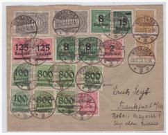 Dt- Reich (004778) Brief Buntfrankatur Gelaufen Von Wiesbaden Nach Frankfurt Am 23.10.1923 - Deutschland