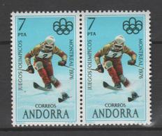 ANDORRA CORREO ESPAÑOL 2 SELLOS UNO DE ELLOS PUNTO BLANCO DENTRO DEL Nº 7    (S.2) - Andorra Española