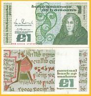 Ireland 1 Pound P-70d 1989 UNC Banknote - Ireland