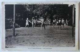 CPA Publicitaire Verberie 60 Camp école Des Chefs éclaireurs De Cappy Scout Scoutisme Mlle Robert 40 Rue De Sénè - Scoutisme
