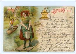 U9733/ Aecht Franck Kaffee-Zusatz  - Spreewald - Reklame Litho AK Ca.1900 - Advertising
