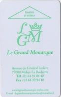 Carte Clé Hôtel : Le Grand Monarque : 77000 Melun - La Rochette France - Cartes D'hotel