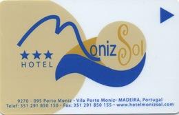 Carte Clé Hôtel : Hotel Moniz Sol : Madeira Portugal - Cartes D'hotel
