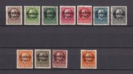 Bayern - 1920 - Michel Nr. 116/125 II B + 134 II B - Gest. - 265 Euro - Bavaria