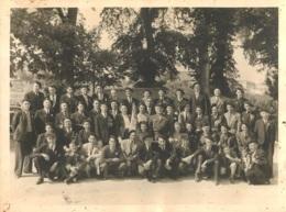 GRANDE PHOTO REMISE DU FANION DE LA SIDI BRAHIM DU POITOU 23/05/1948 FORMAT 24 X18 CM - Documents Historiques