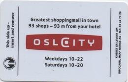 Carte Clé Hôtel : Hotel Oslo City : Oslo Norvège - Cartes D'hotel