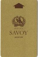 Carte Clé Hôtel : Hotel Savoy : Moscou Russie - Cartes D'hotel