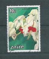 1984 Zaïre Flowers Used/gebruikt/oblitere - Zaïre