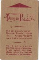 Carte Clé Hôtel : Hotel Kebur Palace : Moscou Russie - Cartes D'hotel