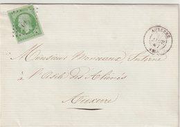 "FRANCE : PC 249 . "" AUXERRE "" N° 12 . TB . 1857 . - Marcophilie (Lettres)"