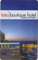 Carte Clé Hôtel : Lato Boutique Hotel : Heraklion Crète Grèce - Cartes D'hotel
