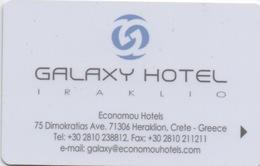 Carte Clé Hôtel : Galaxy Hotel : Heraklion Crète Grèce - Cartes D'hotel