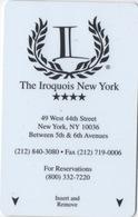 Carte Clé Hôtel : The Iroquois New York - Cartes D'hotel