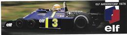 Lot De 2 Marque-Pages - ELF - FORMULE 1 - Pilotes Jackie Stewart Et Jordy Scheckter - Marque-Pages