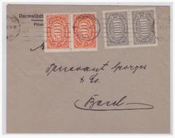Dt- Reich (004836) Firmenbrief Gelaufen Von Frankfurt Nach Basel Am 3.1923 - Germania