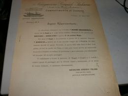 DOCUMENTO DITTA NAVIGAZIONE GENERALE ITALIANA COMPARTIMENTO DI GENOVA 1903 - Italia