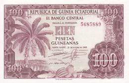 BILLET 100 PESETAS BANQUE CENTRALE GUINEE EQUATORIALE - Equatoriaal-Guinea