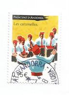 """Andorra Folk Costumes & Dances.""""Les Caramelles"""".  , Timbre Oblitéré, 1 ère Qualité. 2017 - Andorre Espagnol"""