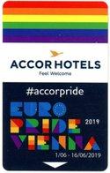 Accor Hotels. Euro Pride Vienna 2019. Wien. Feel Welcome. Share Your Pride On @accorhotels. Austria. Österreich. - Hotelkarten
