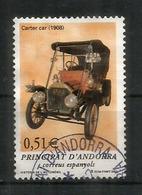 Cartercar. Voiture Automobile Américaine 1908, Un Timbre Oblitéré, 1 ère Qualité - Andorre Espagnol