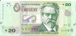 Uruguay - 20 Pesos 2015 - Série G- N° 03731815 - Neuf, Non Circulé - - Uruguay