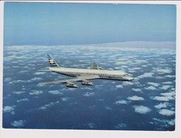 Vintage Rppc KLM K.L.M Royal Dutch Airlines Douglas Dc-8 Aircraft - 1946-....: Era Moderna