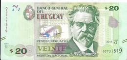 Uruguay - 20 Pesos 2015 - Série G- N° 03731819 - Neuf, Non Circulé - - Uruguay