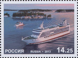 Y85 RUSSIA 2013 1720 A Joint Issue Of The Russian Federation And Aland Islands (Finland). Passenger Ferry Boats - Emissions Communes