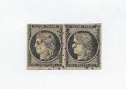Timbre France N° 3 Paire Oblit. PC - 1849-1876: Période Classique