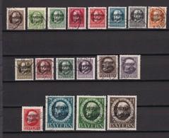 Bayern - 1919 - Michel Nr. 152/170 A - Gest. - 250 Euro - Bavaria
