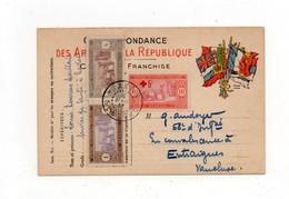 !!! SENEGAL, CARTE DE FRANCHISE DE 1917 POUR LA FRANCE TIMBREE, CACHET DE DAKAR - Sénégal (1887-1944)
