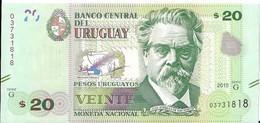 Uruguay - 20 Pesos 2015 - Série G- N° 03731818 - Neuf, Non Circulé - - Uruguay