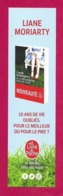 Marque Page  Le Livre De Poche.   Liane Moriarty.    Bookmark. - Marque-Pages