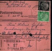 ! 1944 Postanweisung Deutsches Reich, Leipzig, Sachsen Nach Riesa, Zusammendrucke - Covers & Documents