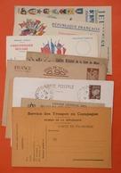 LOT CARTE POSTALE CORRESPONDANCE  MILITAIRE CARTES EN FRANCHISE POSTALES ... AUTRE - Military Service Stampless