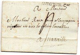 Vaucluse - LAC De Carpentras Marque AVIGNON;Cat (Lenain 3) 1781 - 1701-1800: Voorlopers XVIII