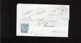 CG11 - Lett. Da Roccaforte X Trecate 5/3/1867 - Ann. A Punti N. 1902 Su 20 Cent. Tipo II° + Doppio Cerchio Nom. - Marcophilia