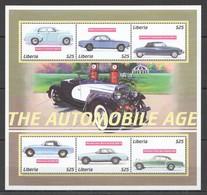 D385 LIBERIA TRANSPORT HISTORY CARS THE AUTOMOBILE AGE 1KB MNH - Autos