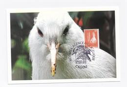 CM DE NOUVELLE-CALEDONIE DE 2012 - LE CAGOU - Cartes-maximum