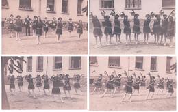Collège De Jeune Fille, NE?, Danse Et Paniers De Fleurs (4x185) Trace De Collage Au Dos - Danse