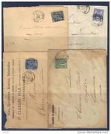 Carcassonne (Aude) Pour Limoux. 1877, 1879, 1892, 1897. Affranchissement Type Sage N° 78, 90, 102 - 1877-1920: Semi Modern Period