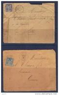 Limoux ((Aude) Deux Enveloppes 1878 Et 1891 - 1877-1920: Semi Modern Period
