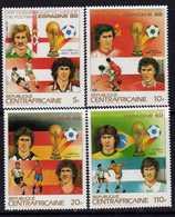 """Centrafricaine  N° 579 / 82 XX """"Espana'82"""", Vainqueurs De La Coupe Du Monde. La Série Des 4 Valeurs Sans Charnière, TB - Centrafricaine (République)"""