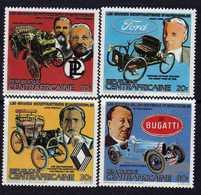 Centrafricaine  N° 583 / 86 XX Grands Constructeurs Automobiles. La Série Des 4 Valeurs Sans Charnière, TB - Centrafricaine (République)
