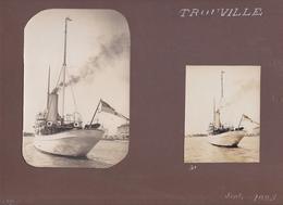 Photographie Ancienne Trouville Calvados - Lot De 10 Photographies Voilier Saint-Serf R.Y.S. Royal Yacht Squadron Port - Places