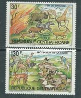 Centrafricaine  N° 602 / 03 XX Protection De La Faune : Les 2 Valeurs Sans Charnière, TB - Centrafricaine (République)