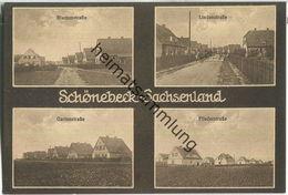 Schönebeck Sachsenland - Blumenstrasse Lindenstrasse Gartenstrasse Fliederstrasse - Verlag Ernst Sandau Schönebeck - Schönebeck (Elbe)