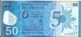 Uruguay - 50 Pesos 2017 - Série A - N° 007283317 - Neuf, Non Circulé - - Uruguay