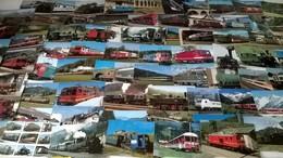 Gros Lot De 278 Cartes Postales Modernes Thèmes Trains Locomotives - Postcards