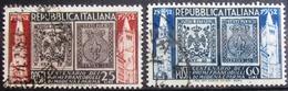 ITALIE                      N° 627/628                    OBLITERE - 1946-60: Afgestempeld